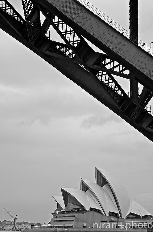 Sydney Harbor Bridge and the Sydney Opera House