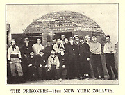 THE Bull Run Prisoners, 11TH NEW YORK ZOUAVES from the book ' The Civil war through the camera ' hundreds of vivid photographs actually taken in Civil war times, sixteen reproductions in color of famous war paintings. The new text history by Henry W. Elson. A. complete illustrated history of the Civil war