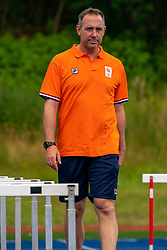 Coach Bart Bennema in action during the Press presentation of the olympic team Athletics on July 8, 2021 in Papendal Arnhem