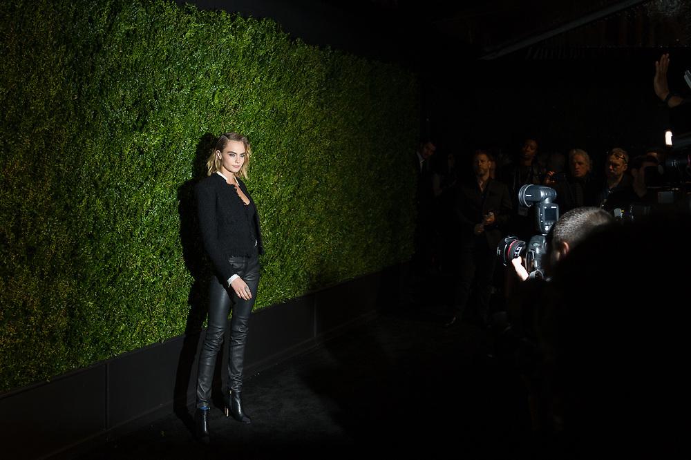 Cara Delevingne at the Chanel Tribeca Artist Dinner.