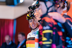 CANYON//SRAM Racing are presented to the crowds in the Tamboer - Ronde van Drenthe 2016, a 138km road race starting and finishing in Hoogeveen, on March 12, 2016 in Drenthe, Netherlands.