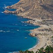 Aerial view of Chileno beach. Cabo San Lucas,Baja California Sur, Mexico.