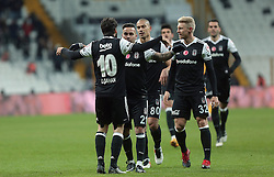 December 14, 2016 - °Stanbul, Türkiye - Kerim Frei of Besiktas celebrate his goal with his team mates in soccer match between Besiktas and Kayserispor, the first soccer match since the bombings, in Istanbul, Wednesday, Dec. 14, 2016. On Saturday's twin attacks outside and near the stadium, 44 people mostly police officers died. (Credit Image: © Tolga Adanali/Depo Photos via ZUMA Wire)