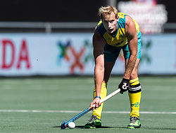 Aran Zalewski of Australia during the Champions Trophy finale between the Australia and India on the fields of BH&BC Breda on Juli 1, 2018 in Breda, the Netherlands.