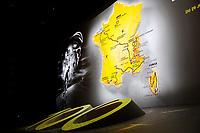 CYCLING - PRESENTATION TOUR DE FRANCE 2013 - PARIS (FRA) - 24/10/2011 - PHOTO JULIEN BIEHLER / DPPI - Illustration Map Traject - The 100th edition - Centenaire