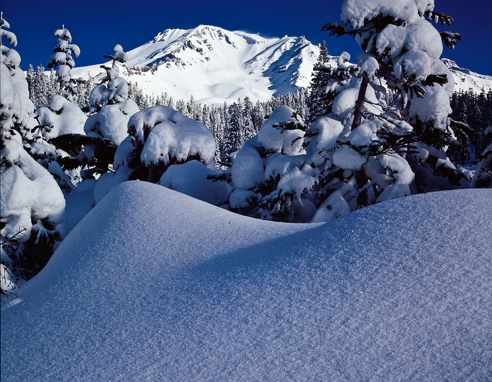 Mount Shasta, winter, Cascade Range, California, USA