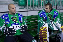 Kevin Mitchell and Mike Morrison of HDD Tilia Olimpija before new season 2008/2009,  on September 17, 2008 in Arena Tivoli, Ljubljana, Slovenia. (Photo by Vid Ponikvar / Sportal Images)