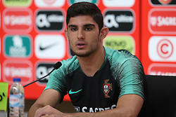May 30, 2018 - Oeiras, Portugal - Portugal's forward Goncalo Guedes attends a press conference before a training session at Cidade do Futebol (Football City) training camp in Oeiras, outskirts of Lisbon, on May 30, 2018, ahead of the FIFA World Cup Russia 2018 preparation matches against Belgium and Algeria...........during the Portuguese League football match Sporting CP vs Vitoria Guimaraes at Alvadade stadium in Lisbon on March 5, 2017. Photo: Pedro Fiuzaduring the Portugal Cup Final football match CD Aves vs Sporting CP at the Jamor stadium in Oeiras, outskirts of Lisbon, on May 20, 2015. (Credit Image: © Pedro Fiuza via ZUMA Wire)