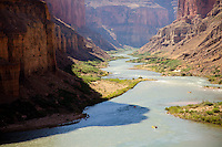 View from Nankoweap overlook while rafting the Grand Canyon. Grand Canyon National Park, AZ.