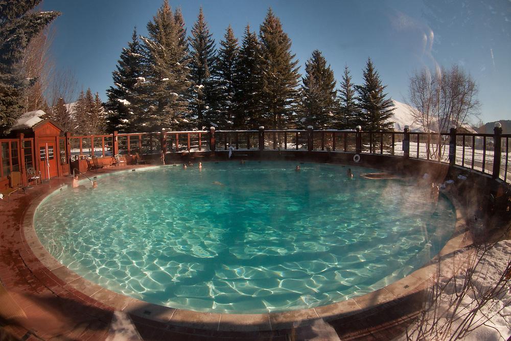 Sun Valley Inn Circular Swimming Pool, Sun Valley, Idaho, US