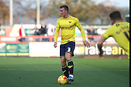 Oxford United defender Joe Skarz during the Sky Bet League 2 match between Stevenage and Oxford United at the Lamex Stadium, Stevenage, England on 31 October 2015. Photo by Jemma Phillips.