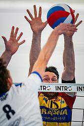 Martijn de Haan of Sliedrecht Sport, Maikel van Zeist of Dynamo in action during the first league match in the corona lockdown between Sliedrecht Sport vs. Draisma Dynamo on January 09, 2021 in Sliedrecht.