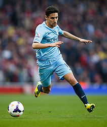 Man City Midfielder Jesus Navas (ESP) in action - Photo mandatory by-line: Rogan Thomson/JMP - 07966 386802 - 29/03/14 - SPORT - FOOTBALL - Emirates Stadium, London - Arsenal v Manchester City - Barclays Premier League.