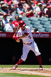 June 3, 2018 - Anaheim, CA, U.S. - ANAHEIM, CA - JUNE 03: Los Angeles Angels second baseman Ian Kinsler (3) during the MLB regular season game against the Texas Rangers on June 03, 2018 at Angel Stadium of Anaheim in Anaheim, CA. (Photo by Ric Tapia/Icon Sportswire) (Credit Image: © Ric Tapia/Icon SMI via ZUMA Press)