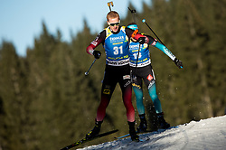 Johannes  Thingnes Boe (NOR) in action during the Men 10km Sprint at day 6 of IBU Biathlon World Cup 2018/19 Pokljuka, on December 7, 2018 in Rudno polje, Pokljuka, Pokljuka, Slovenia. Photo by Vid Ponikvar / Sportida