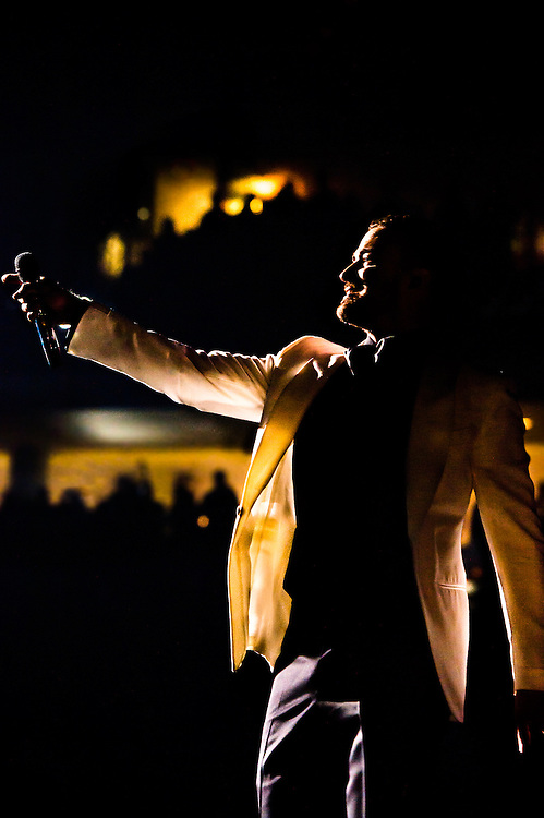 Justin Timberlake performing at the PNC Arena