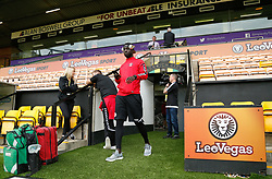 Charlton Athletic's Naby Sarr heads out onto the pitch ahead of the match