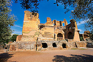 Hadrian's Villa ( Villa Adriana ) built during the second and third decades of the 2nd century AD, Tivoli, Italy. A UNESCO World Heritage Site. .<br /> <br /> If you prefer to buy from our ALAMY PHOTO LIBRARY  Collection visit : https://www.alamy.com/portfolio/paul-williams-funkystock/hadrians-villa-tivoli.html<br /> Visit our CLASSICAL WORLD HISTORIC SITES PHOTO COLLECTIONS for more photos to buy as buy as wall art prints https://funkystock.photoshelter.com/gallery-collection/Classical-Era-Historic-Sites-Archaeological-Sites-Pictures-Images/C0000g4bSGiDL9rw