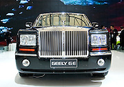 China's Geely automaker's GE car, which looks like a Rolls Royce, is displayed during Shanghai Motor Show, in Shanghai, China, on April 20, 2009. Shanghai auto show opened Monday for the press and will be open April 24-28 for the public. China is the only major auto market still growing despite the global economic slowdown. U.S. and global auto makers see China as the place where they can find the sales they desperately lack in their home market. Chinese automakers see the opportunity to assess themselves as major players in the world market. Photo by Lucas Schifres/Pictobank