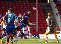 Photo: Tony Oudot.<br /> Brentford v Stockport County. Coca Cola League 2. 29/09/2007.<br /> Hatrick hero Anthony Elding of Stockport comes close with a header