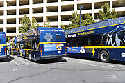 Anteater Express Buses Charging at the University of California Irvine