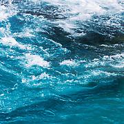 Deep blue Atlantic Ocean - view of wavy churning sea water - abstract photograph