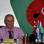 Special For LO-Tidningen.<br /> Textile, Knitting and Clothing Workers' Union of Turkey president Sabahattin CETIN of the TEKSIF , in Istanbul Turkey on Thursday 16 June 2011. Photo by TURKPIX