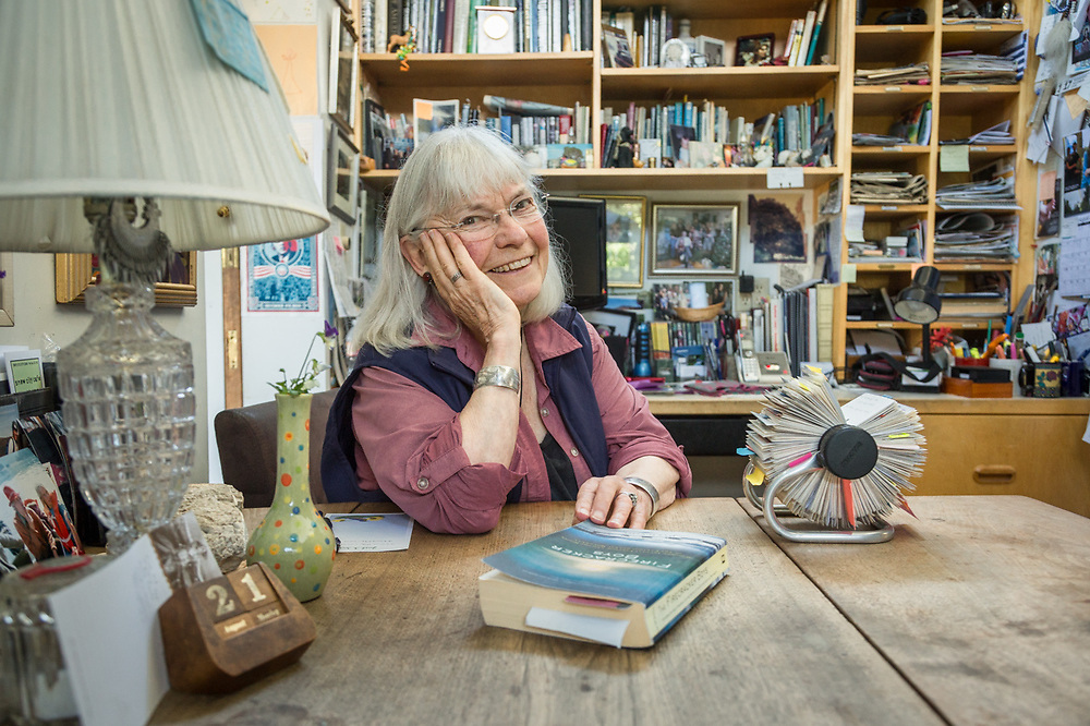 """""""I must be the last person in the world who still uses one...I love my Roledex.""""  - Lanie Fleischer sits at her kitchen table in Anchorage."""