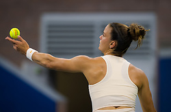 August 29, 2018 - Maria Sakkari of Greece in action during her second round match at the 2018 US Open Grand Slam tennis tournament. New York, USA. August 29th 2018. (Credit Image: © AFP7 via ZUMA Wire)