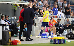 Scotland's Jon Soutattar walks down the tunnel after being shown a red card during the UEFA Nations League Group C1 match at the Sammy Ofer Stadium, Haifa.