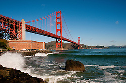 Fort Point, Golden Gate Bridge, San Francisco, California, USA.  Photo copyright Lee Foster.  Photo # california108219