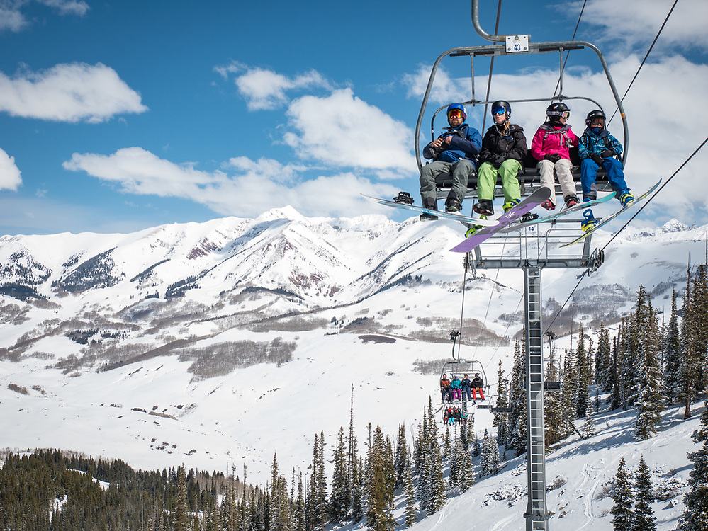 Early April skiing at Crested Butte.