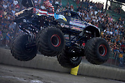 .MONSTER TRUCK_American Guardian competing at the Monster Truck Challenge at the Orange County (NY) Fair Speedway.