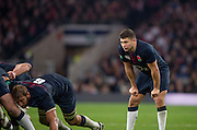 Twickenham, United Kingdom. Ben YOUNGS, stand's behind the scrum, during the Old Mutual Wealth Series Rest Match: England vs Argentina, at the RFU Stadium, Twickenham, England, <br /> <br /> Saturday  26/11/2016<br /> <br /> [Mandatory Credit; Peter Spurrier/Intersport-images]