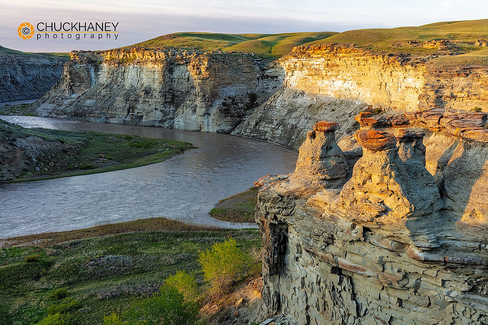 The Two Medicine River at Rock City near Valier, Montana, USA