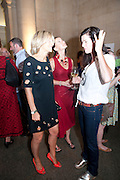EMILY MAITLIS; FIONA BANNER; FEDERIKA RAYMER, Tate Summer Party. Celebrating the opening of the  Fiona Banner. Harrier and Jaguar. Tate Britain. Annual Duveens Commission 29 June 2010. -DO NOT ARCHIVE-© Copyright Photograph by Dafydd Jones. 248 Clapham Rd. London SW9 0PZ. Tel 0207 820 0771. www.dafjones.com.