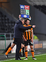 Hull City's Manager Grant McCann instructs George Honeyman<br /> <br /> Photographer Dave Howarth/CameraSport<br /> <br /> The EFL Sky Bet League One - Hull City v Burton Albion - Saturday 14th November 2020 - KCOM Stadium - Kingston upon Hull<br /> <br /> World Copyright © 2020 CameraSport. All rights reserved. 43 Linden Ave. Countesthorpe. Leicester. England. LE8 5PG - Tel: +44 (0) 116 277 4147 - admin@camerasport.com - www.camerasport.com