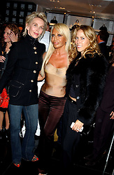 Left to right,  TRUDIE STYLER, DONATELLA VERSACE and singer SHERYL CROWE at a party hosted by Versace during London Fashion Week 2005 at their store in Slaone Street, London on 19th September 2005.<br />