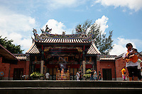 """The Snake Temple in Penang was build in the memory of Chor Soo Kong by a Buddhist monk who had immigrated to Penang. Chor Soo Kong had healing powers and had given shelter to snakes when he lived in the jungle.  As the story goes, snakes entered the temple after completing and have never left to pay respect to Chor Soo Kong.  The Snake Temple original name was the """"Temple of the Azure Cloud"""" in honor of the beauty of Penang's sky.  The temple is dedicated to a deity called Cheng Swee Chor Soo."""
