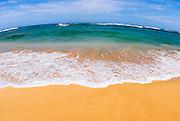 Gillin's Beach at Maha'ulepu on the south shore, Island of Kauai, Hawaii