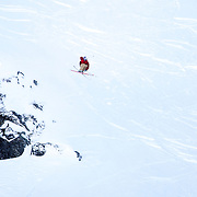 Markus Eder from Italy in action during the World Heli Challenge Extreme Day at Mount Albert on Minaret Station, Wanaka, New Zealand. 1st August 2011
