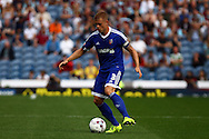 Jake Bidwell of Brentford in action. Skybet football league championship match, Burnley  v Brentford at Turf Moor in Burnley, Lancs on Saturday 22nd August 2015.<br /> pic by Chris Stading, Andrew Orchard sports photography.