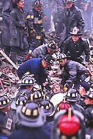 firemen rescue injured man, Boston..