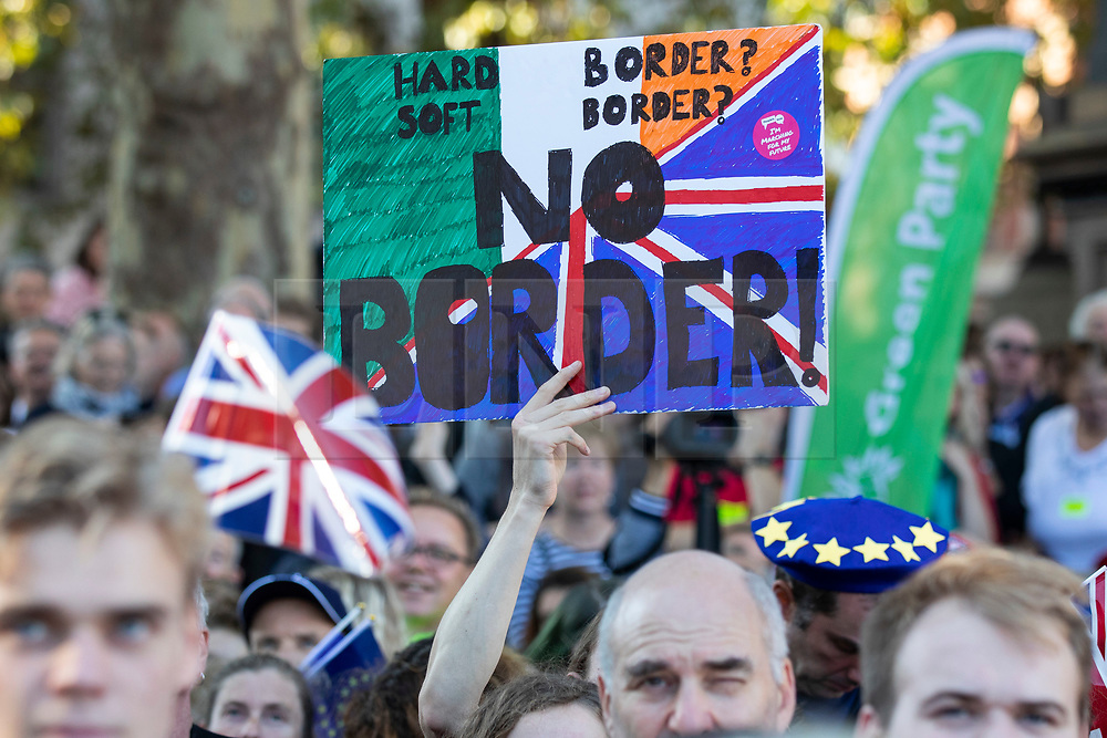 © Licensed to London News Pictures. 20/10/2018. London, UK. Protesters on the People's Vote March in central London to call on government to give the public a vote on the final Brexit deal. Photo credit: Rob Pinney/LNP