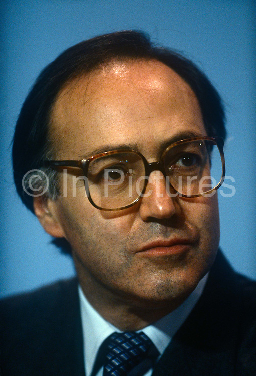 Secretary of State for Employment and Conservative MP, Michael Howard at the Conservative party conference on 11th October 1990 in Blackpool, England.
