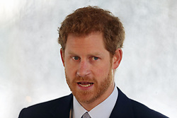 Prince Harry makes a speech at the official launch of the Invictus Games Sydney 2018.
