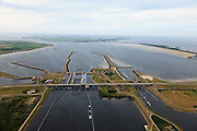 Nederland, Zeeland, Krammer, 22-05-2011; Krammersluizen bij de Philipsdam (afsluiting van  Krammer en Volkerak van de Oosterschelde). Krammer sluices in south-west Netherlands, part of the Delta Project..luchtfoto (toeslag), aerial photo (additional fee required).foto/photo Siebe Swart