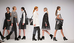 © Licensed to London News Pictures. 01/06/2015. London, UK. Collection by Deborah Counsell. Fashion show of Bath Spa University at Graduate Fashion Week 2015. Graduate Fashion Week takes place from 30 May to 2 June 2015 at the Old Truman Brewery, Brick Lane. Photo credit : Bettina Strenske/LNP