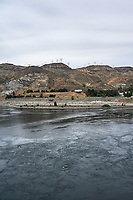 Grand Coulee Dam Panorama. Composite 4 of 7 images taken with a Nikon D700 camera and 35 mm f/1.4 mm lens (ISO 200, 18 mm, f/11, 1/1000 sec). Raw images processed with Capture One Pro and the panorama created using AutoPano Pro.