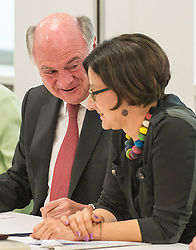 26.05.2014, OeVP Bundespartei, Wien, AUT, OeVP, Vorstandssitzung der OeVP Bundespartei. im Bild v.l.n.r. Landeshauptmann Niederoesterreich Erwin Proell OeVP und Bundesministerin fuer Inneres Johanna Mikl-Leitner (OeVP) // f.l.t.r. Governor of Lower Austria Erwin Proell and Minister of the Interior Johanna Mikl-Leitner (OeVP) before board meeting of OeVP at federal party of OeVP in Vienna, Austria on 2014/05/26. EXPA Pictures © 2014, PhotoCredit: EXPA/ Michael Gruber